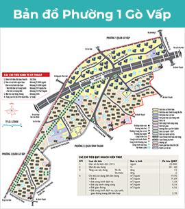 Bản đồ phường 1 quận gò vấp